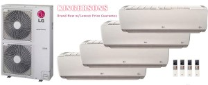 LG LMU540HV LSN090HSV4 LSN120HSV4 (TWO) LSN180HSV4 Quad Zone Ductless Split Air Conditioner