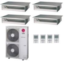 LG LMU36CHV  LMDN095HV (THREE) LMDN125HV 39000 BTU Heat Pump Concealed Quad Zone