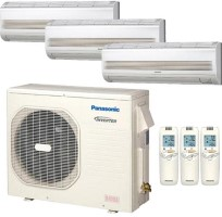 CU4KE31NBU CSMKE9NKU CSMKE12NKU (TWO) Panasonic 32800 BTU Heat Pump Wall Mount Tri Zone System