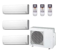 AOU36RLXFZ1 ASU9RLF1 (TWO) ASU18RLF Fujitsu Heat Pump Wall Mounted Ductless Tri Zone System
