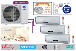 Gree Tri Zone MULTI24HP230V1AO NEO09HP230V1AH (THREE) SEER 16 Ductless System