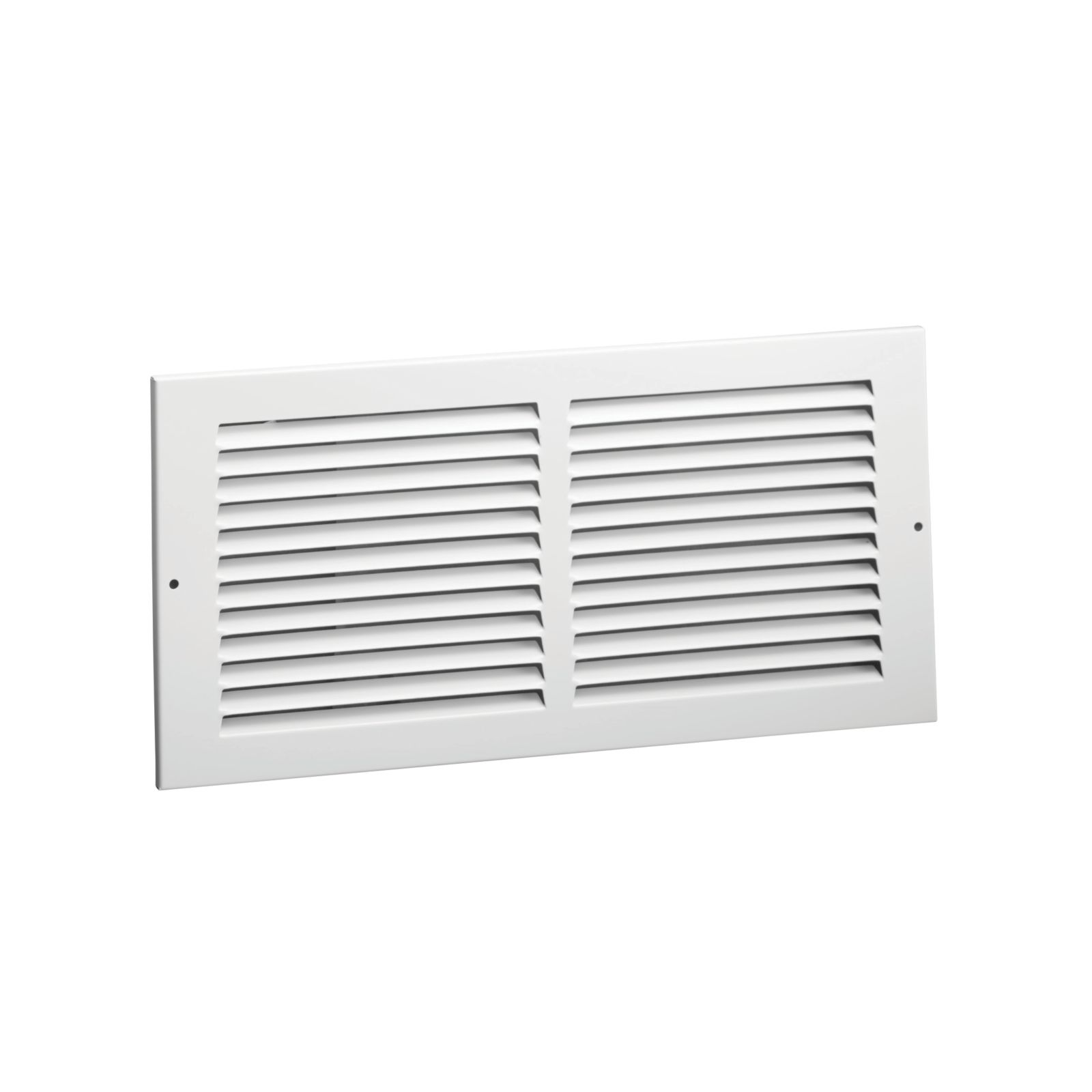 "Hart & Cooley 043363 - #672 Steel Return Air Grille, White Finish, 24"" X 8"""