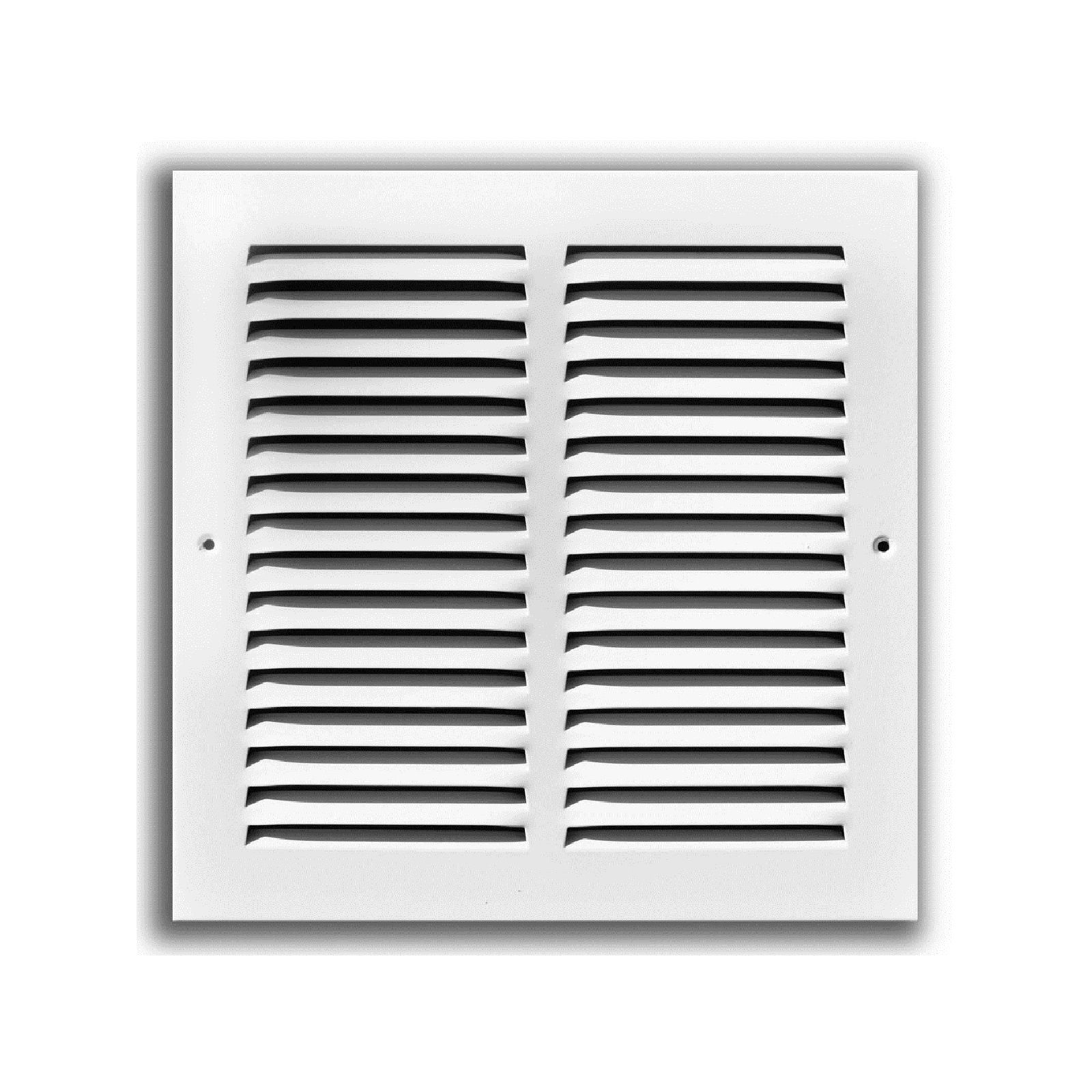 "TRUaire 170 14X24 - Steel Return Air Grille - 1/2"" Spaced Fin, White, 14"" X 24"""