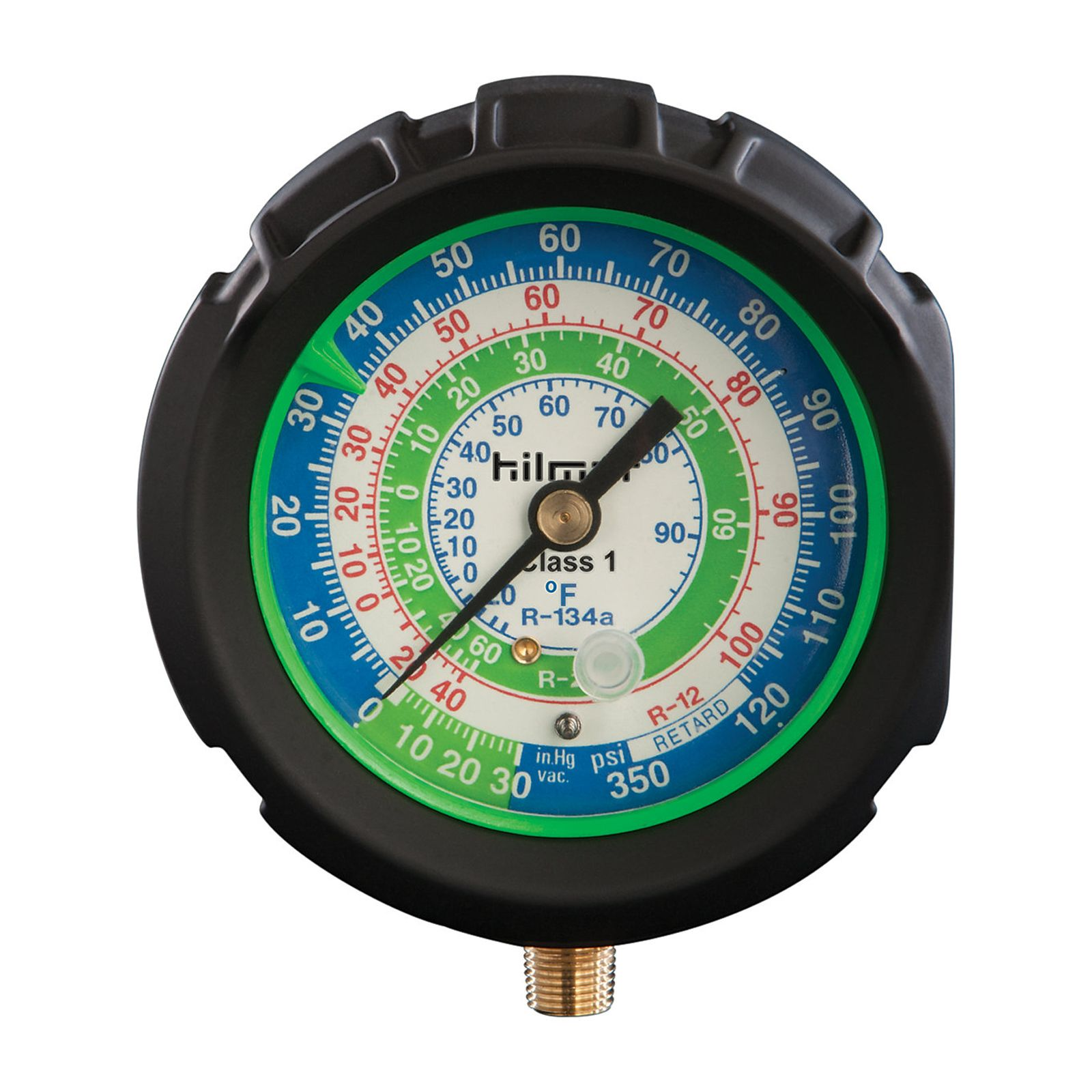 hilmor 1839083 - AG410H 80mm Analog Gauge R410A High, Plastic Backed