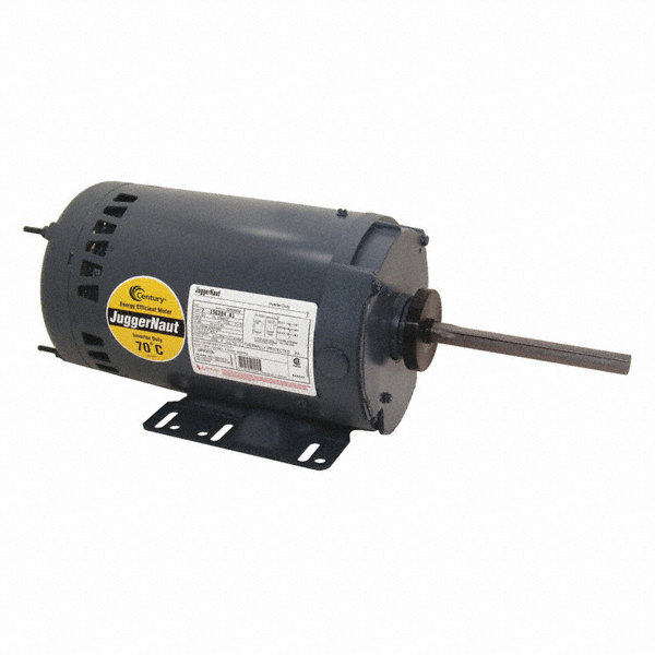 1-CENTURY 1/2 HP Condenser Fan Motor,3-Phase,1140 Nameplate RPM,208-230/460 Voltage,Frame 56HZ