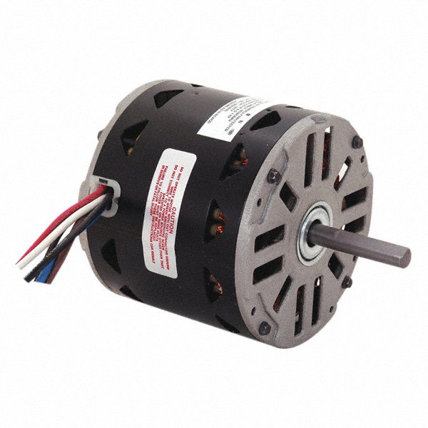 CENTURY 1/2 HP Direct Drive Motor, Permanent Split Capacitor, 1110 Nameplate RPM, 115 VoltageFrame 48Y