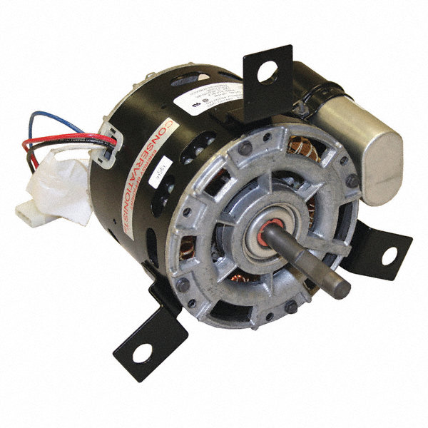 CENTURY 1/6 HP Condenser Fan Motor, Permanent Split Capacitor, 1550 Nameplate RPM, 115 VoltageFrame 42Y