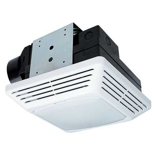Air King BFQF70 70 CFM 2.0 Sone Energy Star Rated Exhaust Fan with Snap-In Installation and Fluorescent Light from the High