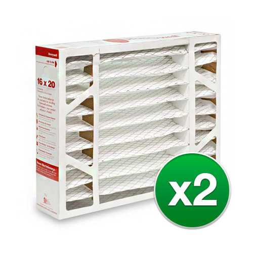 Replacement Pleated Air Filter for For Honeywell F100F1004 Furnace 16x20x5 MERV 11 (2 Pack)