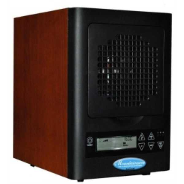 Sunheat MA-4000 Mountainaire HEPA Air Purifier with 6 Stage Filtration - wood grain/ black