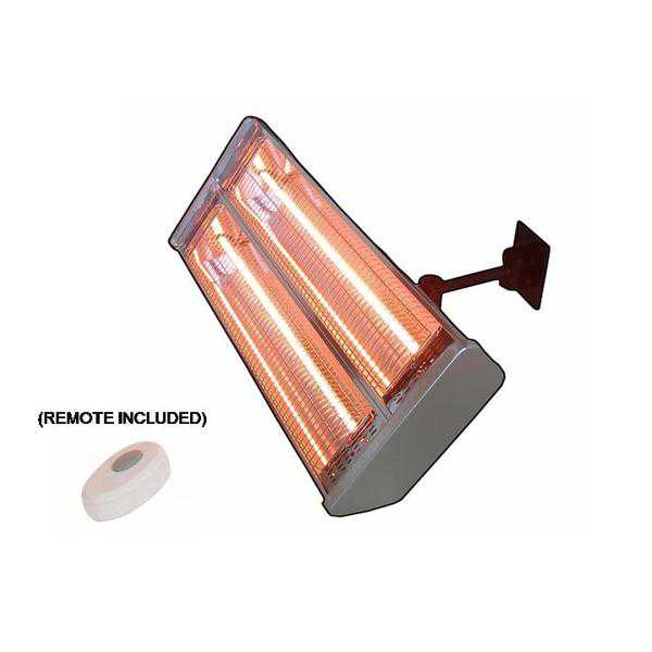 Hiland Indoor/Outdoor Dual Bulb Electric Patio Heater