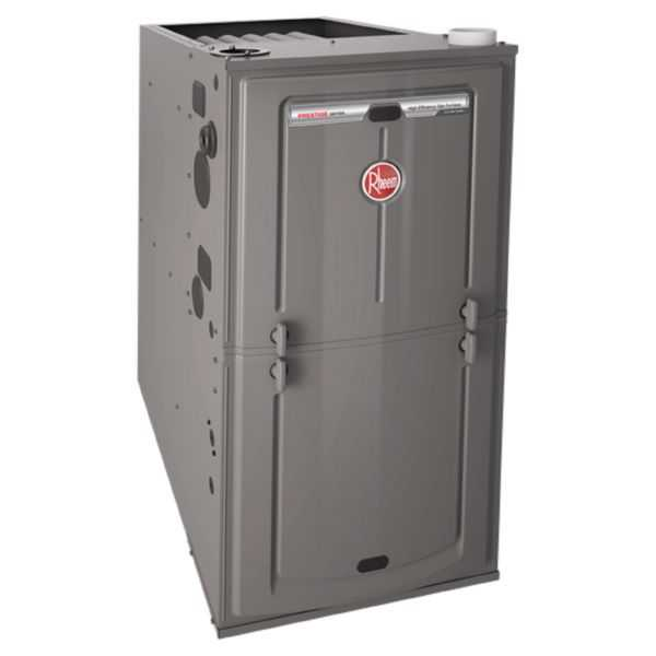 Rheem R96VA-0602317MSA - 96% AFUE, 56K BTU, 2 Stage, Multi-Position Gas Furnace with Variable Speed ECM Motor