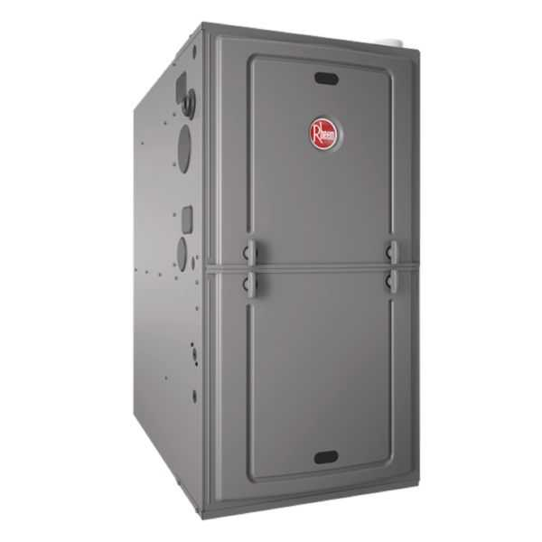 Rheem - R95PA1001521MSA - Classic Series 95% AFUE, 98K BTU, 1 Stage, Multi-Position Gas Furnace With PSC Motor