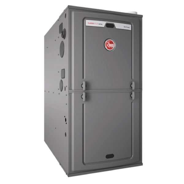 Rheem - R96PA1002521MSA - Classic Plus Series 96% AFUE, 98K BTU, 2 Stage, Multi-Position Gas Furnace With PSC Motor