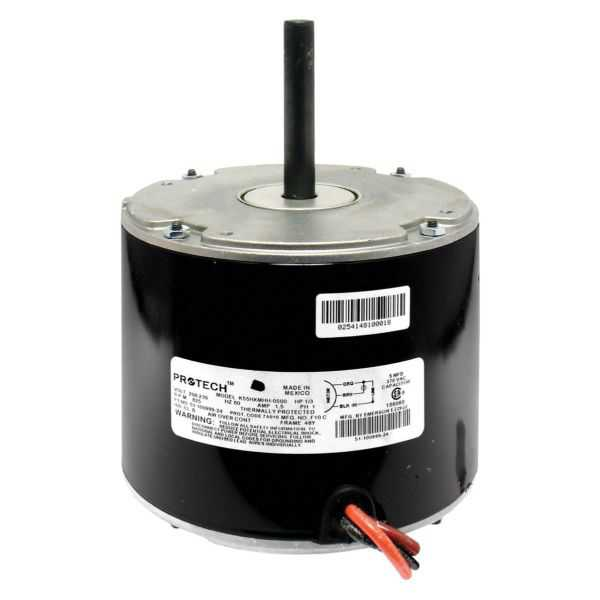 PROTECH 51-42534-16 - Condenser Motor - 3/4 hp 208-230/1/50-60 (1075 rpm/1 speed)