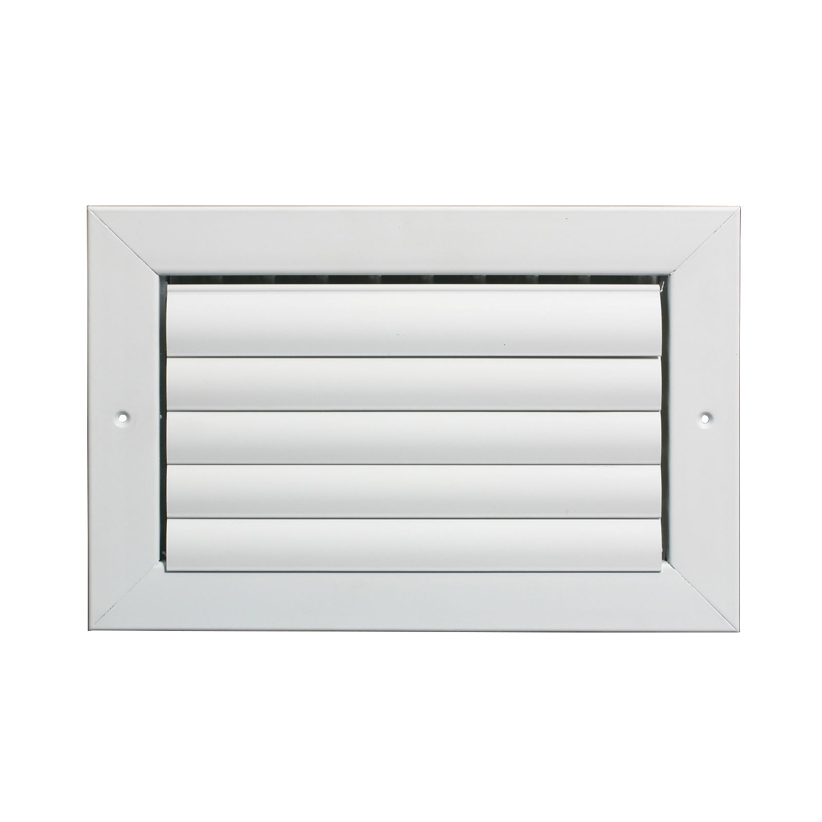 "Grille Tech CL1M0804 - Aluminum Ceiling 1-Way Deflection Supply, Multi-shutter 8"" X 4"" White"
