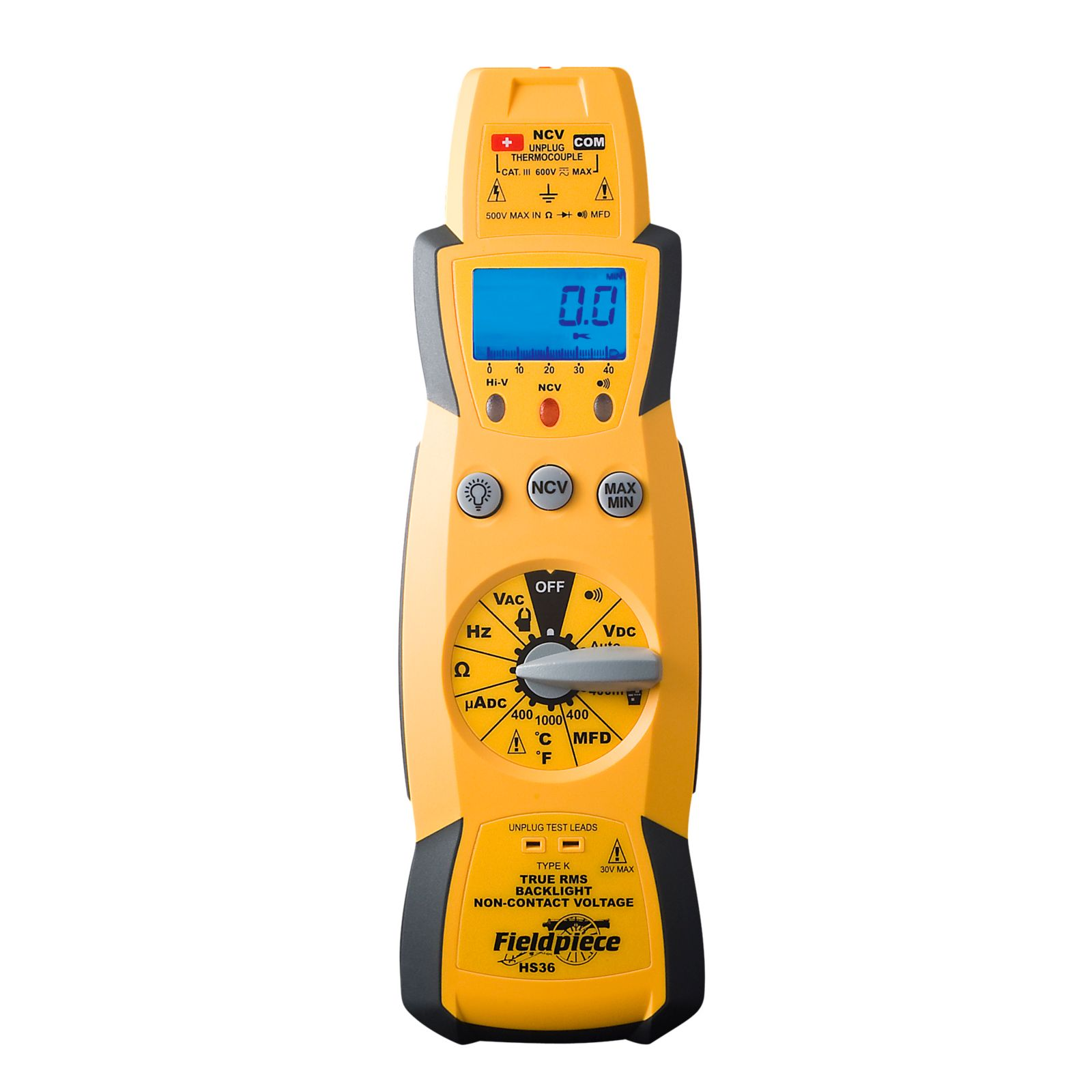 Fieldpiece HS36 - True RMS Stick Meter Included A Bright Blue Backlight