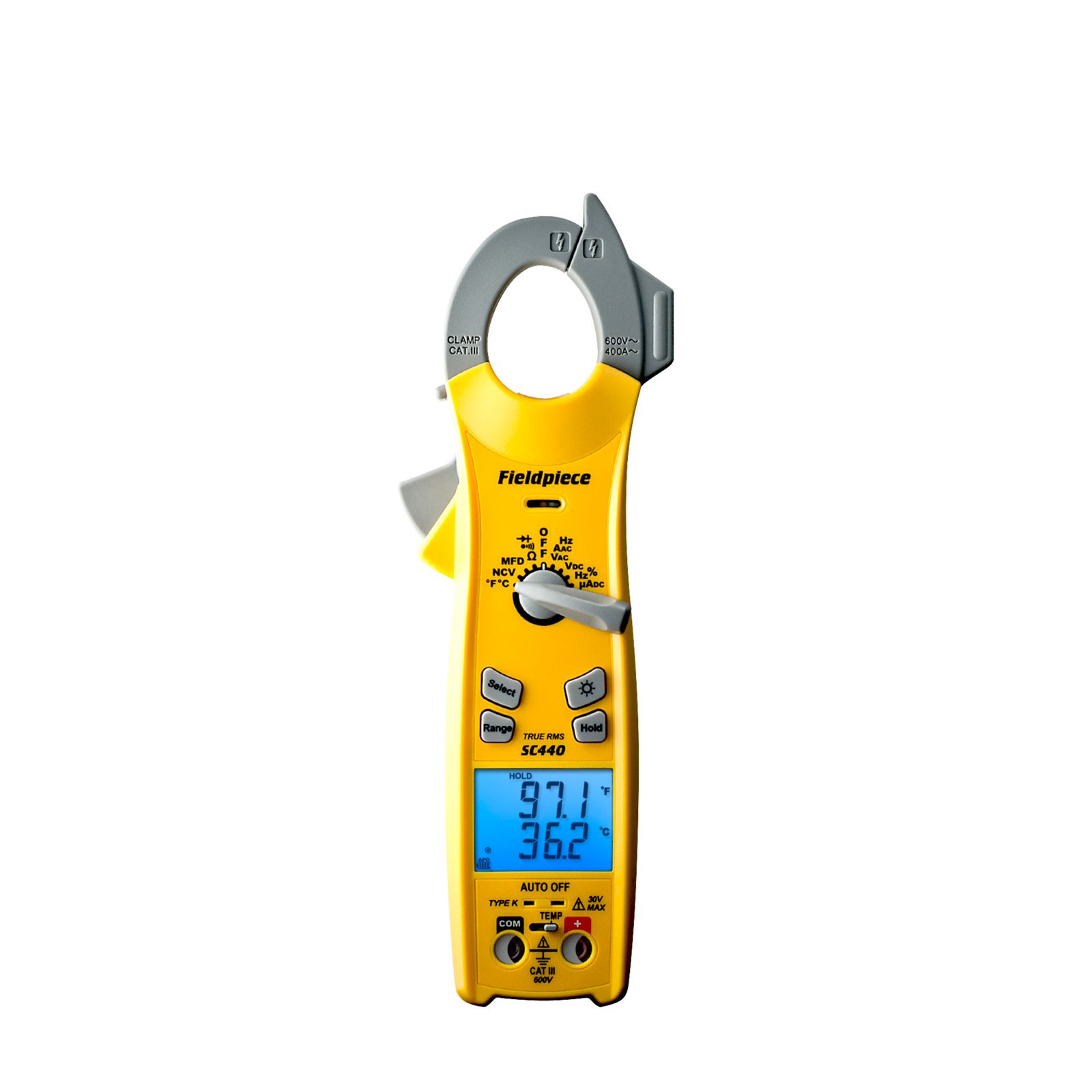 Fieldpiece SC440 - Essential Clamp Meter with True RMS and Magnetic Strap